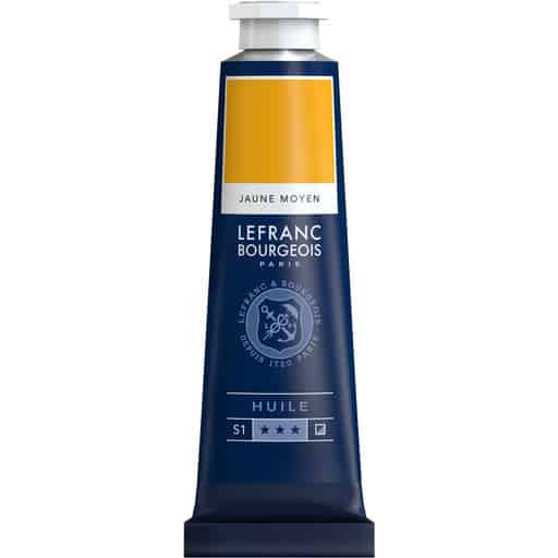 L&B FINE OIL 198 MEDIUM YELLOW 40ML ÖLJYVÄRI