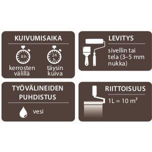 V33 TERASSIMAALI RUSKEA 5L
