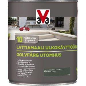 V33 LATTIAMAALI ULKOKÄYTTÖÖN TUMMANHARMAA 2
