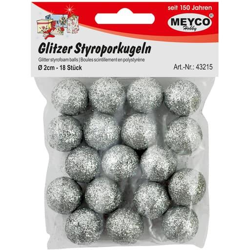 MEYCO GLITTER STYROKSIPALLOT HOPEA 2CM 18KPL