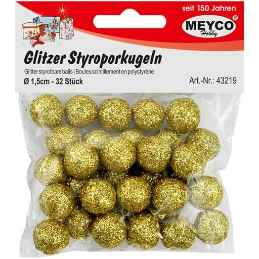 MEYCO GLITTER STYROKSIPALLOT KULTA 1