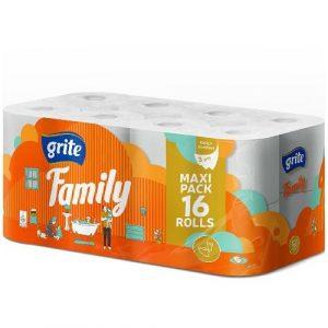 GRITE FAMILY WC-PAPERI 16RLL| Säästötalo Latvala