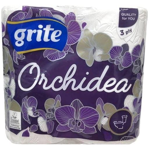 GRITE ORCHDEA WC-PAPERI 4RL| Säästötalo Latvala
