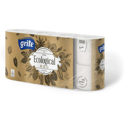 GRITE ECOLOGICAL WC PAPERI 8RLL
