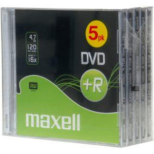 MAXELL DVD+R 10MM 4.7GB 5-PACK