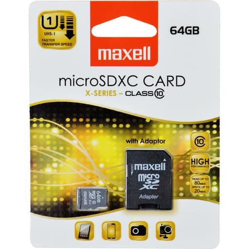 MAXELL MICRO SDXC 64GB MUISTIKORTTI