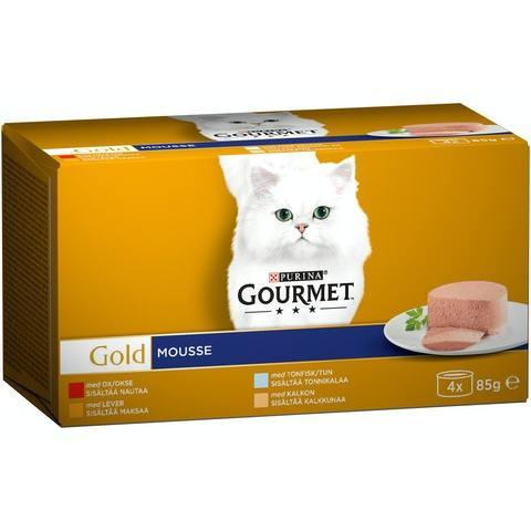 GOURMET GOLD MOUSSE-LAJITELMA 4x85G