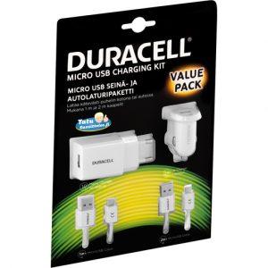 DURACELL LATURIPAKETTI MICRO-USB