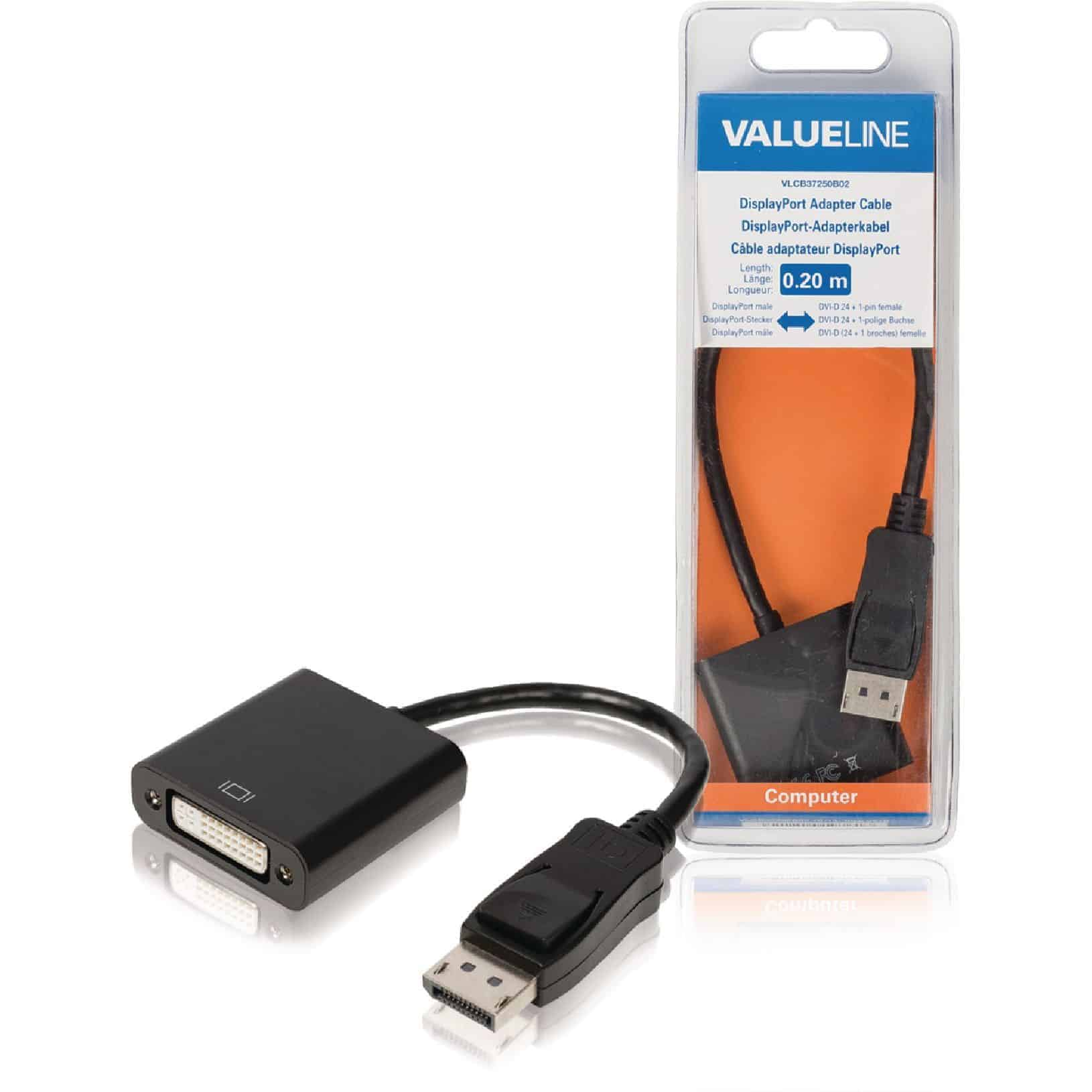 VALUELINE DISPLAYPORT UROS - DVI-D 24+1-PIN NAARAS 0