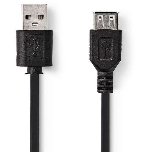 NEDIS USB JATKOJOHTO UROS - NAARAS 2M