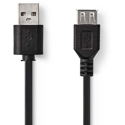 NEDIS USB 2.0 JATKOJOHTO UROS - NAARAS 3M