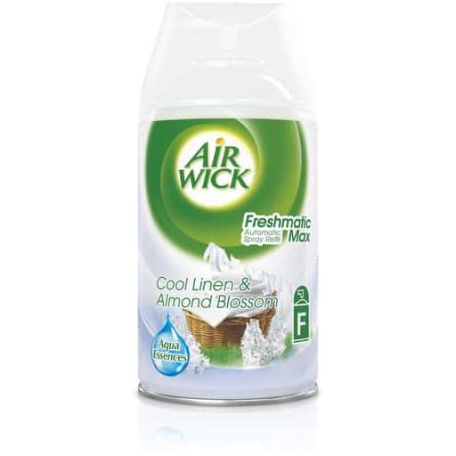 AIRWICK FRESMATIC MAX TÄYTTÖ COOL LINEN & ALMOND BLOSSOM 250ML