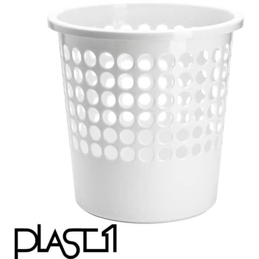 PLAST1 ROSKAKORI VALKOINEN 10L