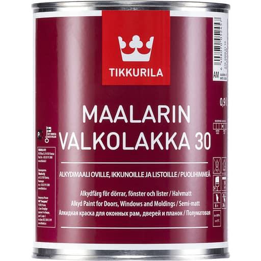 MAALARIN VALKOLAKKA PUOLIHIMMEÄ VALKOINEN 0