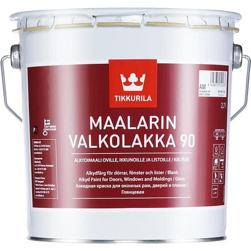 MAALARIN VALKOLAKKA KIILTÄVÄ VALKOINEN 2