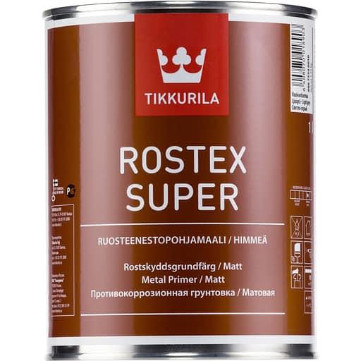 ROSTEX SUPER RUOSTEENESTOPOHJAMAALI PUNAINEN 1L