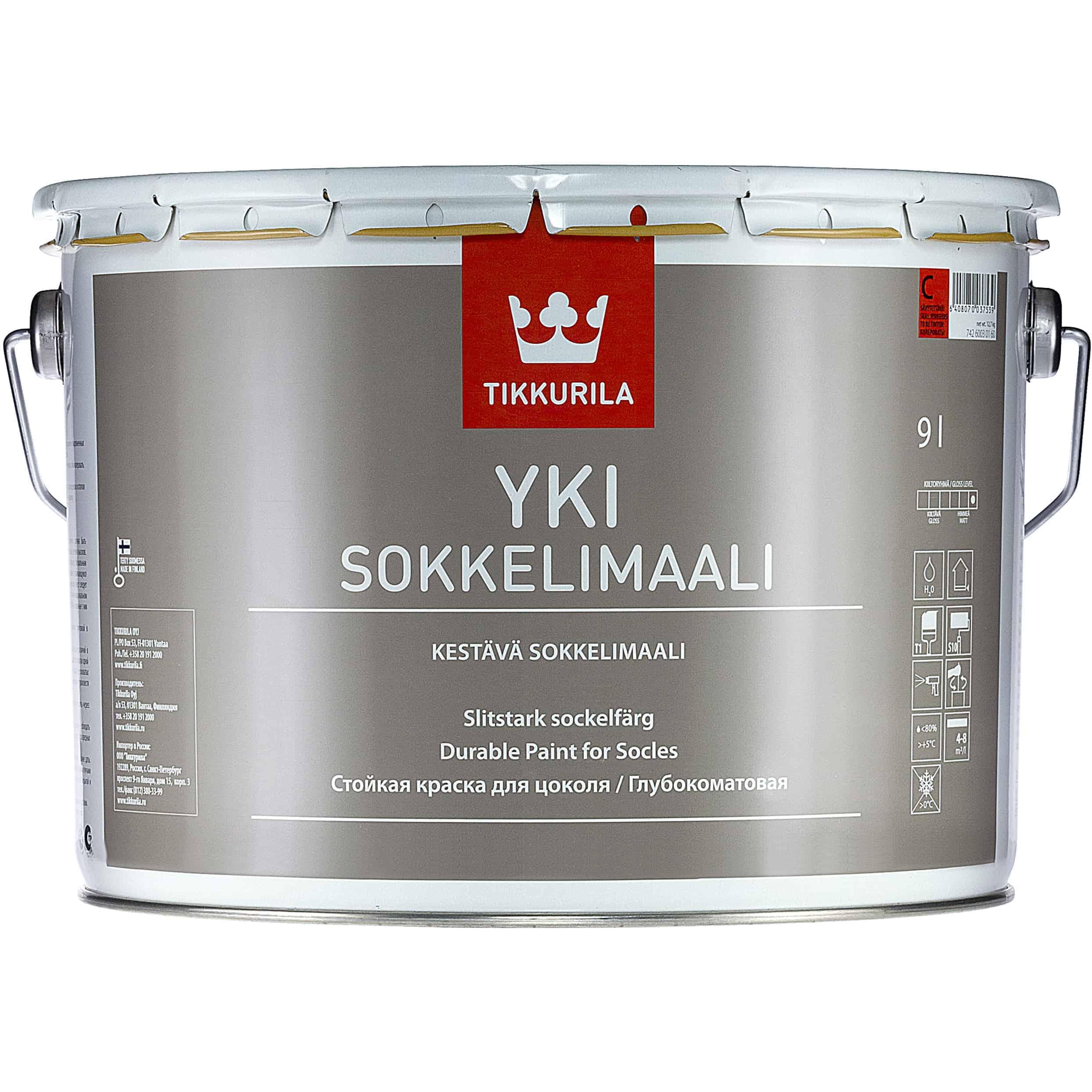 YKI SOKKELIMAALI SÄVYTETTÄVÄ 9L