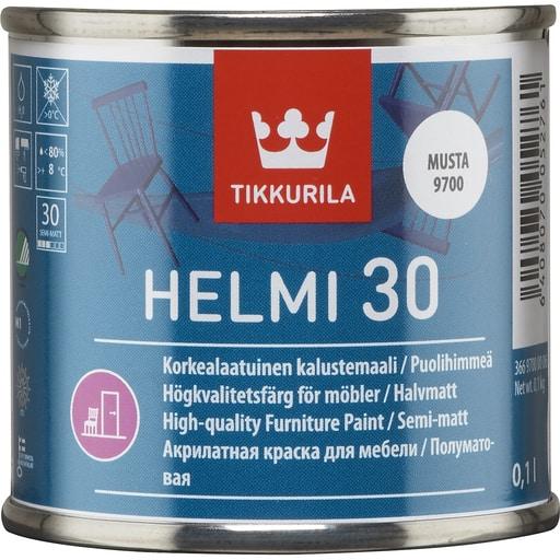 HELMI 30 PUOLIHIMMEÄ MUSTA 0