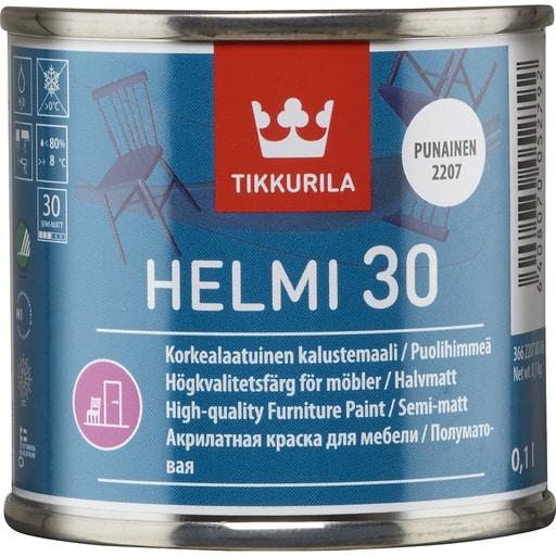 HELMI 30 PUOLIHIMMEÄ PUNAINEN 0