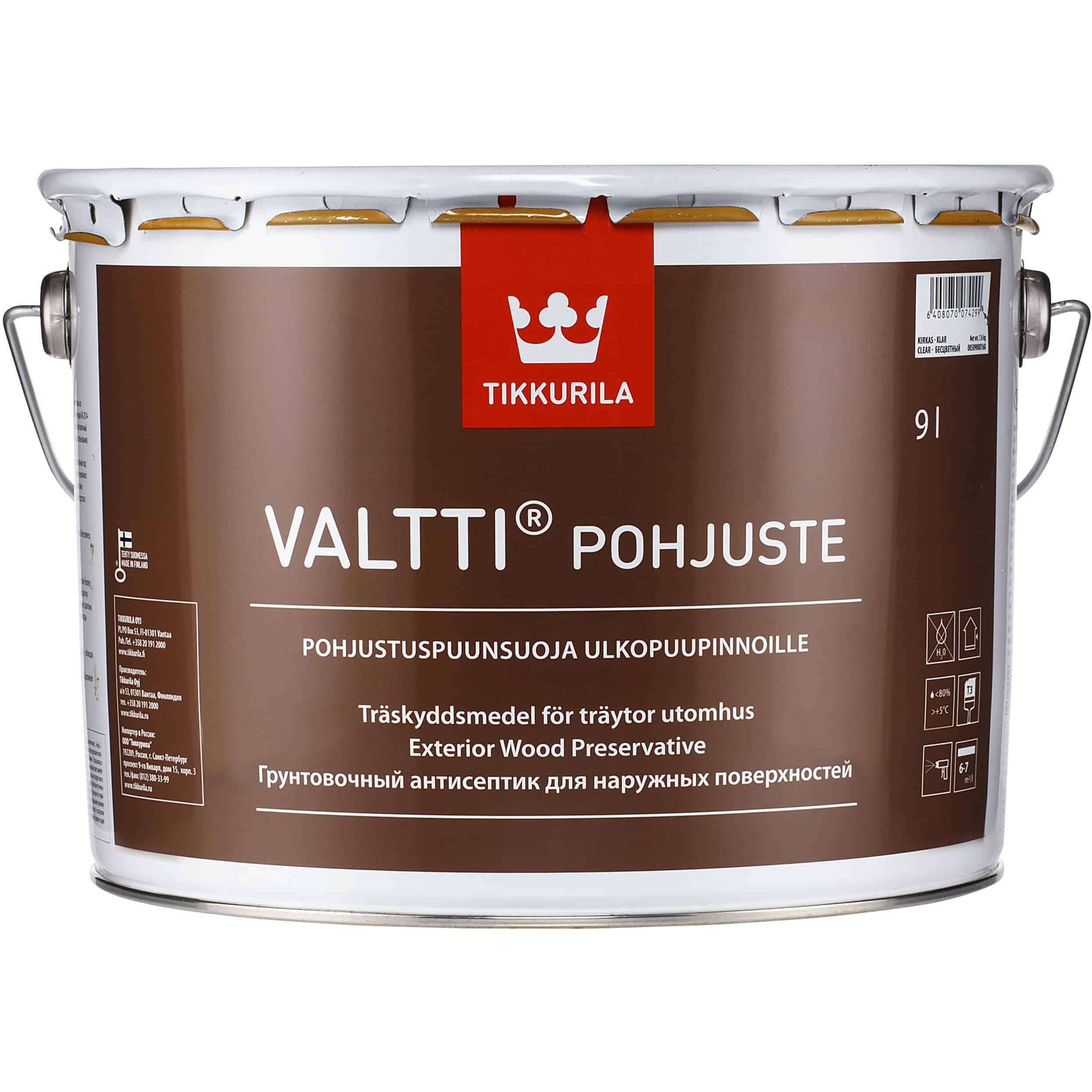 VALTTI POHJUSTE VÄRITÖN 9L