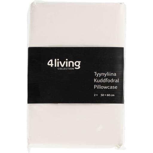 4LIVING TYYNYLIINA VALKOINEN 50x60CM 2KPL