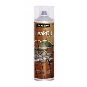 MASTON TEAK OIL SPRAY 500ML VÄRITÖN
