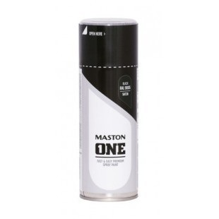 MASTON ONE MUSTA SATIINI RAL9005 400ML