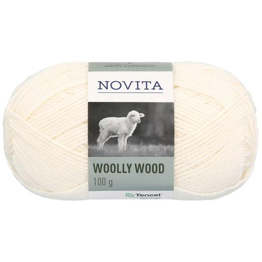 NOVITA WOOLLY WOOD 100G LUONNONVALKOINEN (010)