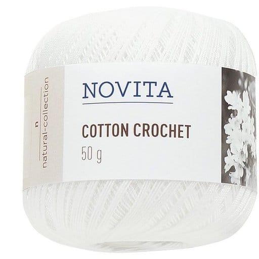 NOVITA COTTON CROCHET VALKOINEN 50G (011)