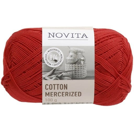 NOVITA COTTON MERCERIZED JOULU 100G (544)