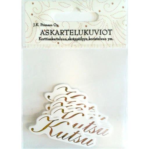 ASKARTELUKUVIO KUTSU KULTA 6KPL