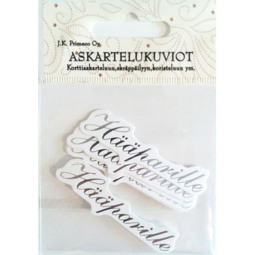 ASKARTELUKUVIO HÄÄPARI HOPEA 6KPL