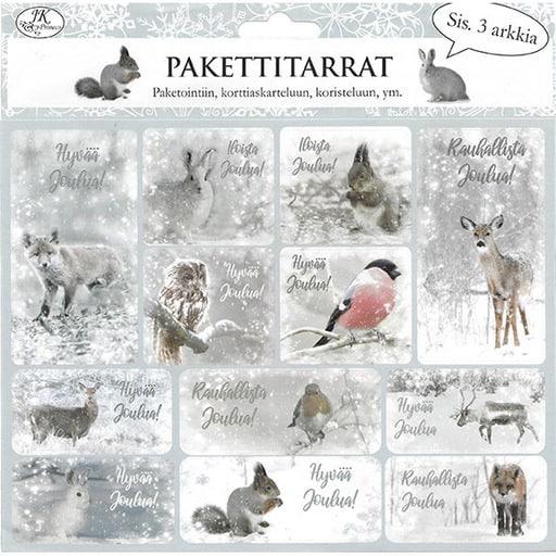 PAKETTITARRA METSÄNELÄIMET 3ARKKIA/PKT