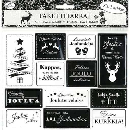 PAKETTITARRA MUSTAVALKO 3ARKKIA| Säästötalo Latvala