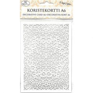KORISTEKORTTI PITSI VALKOINEN A6 5KPL| Säästötalo Latvala