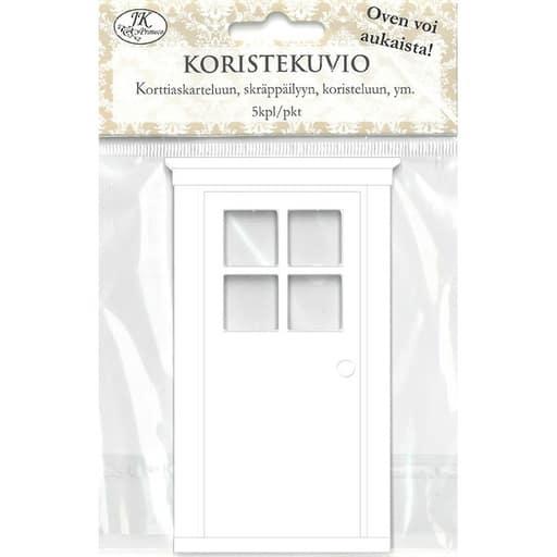KORISTEKUVIO IKKUNAOVI VALKOINEN 5KPL