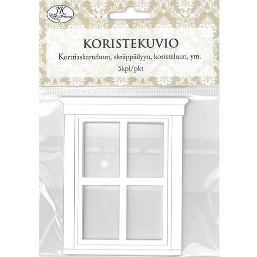 KORISTEKUVIO IKKUNA VALKOINEN 5KPL