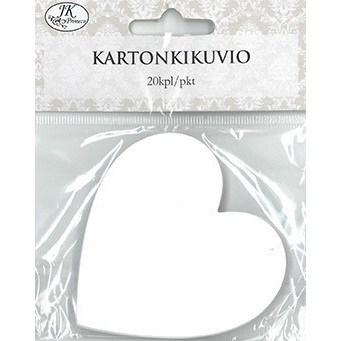 KARTONKIKUVIO SYDÄN VALKOINEN 20KPL