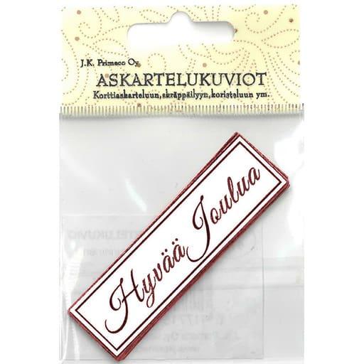 ASKARTELUKUVIO HYVÄÄ JOULUA PUNAINEN