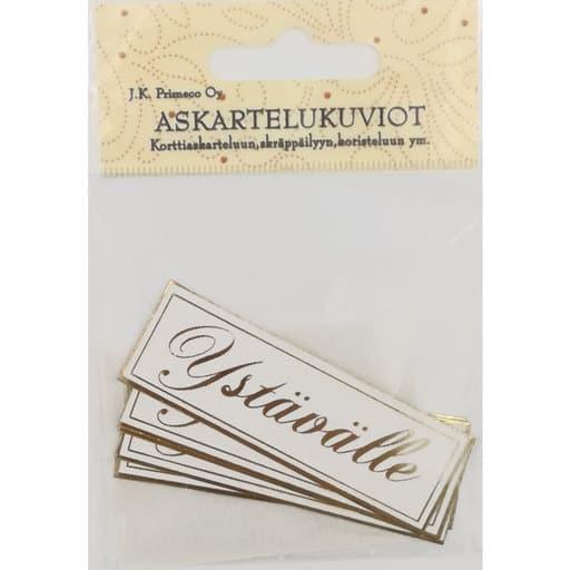 ASKARTELUKUVIO YSTÄVÄLLE 2 KULTA 6KPL