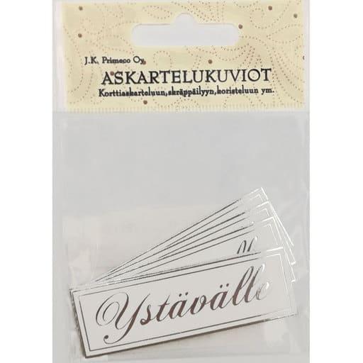 ASKARTELUKUVIO YSTÄVÄLLE 2 HOPEA 6KPL