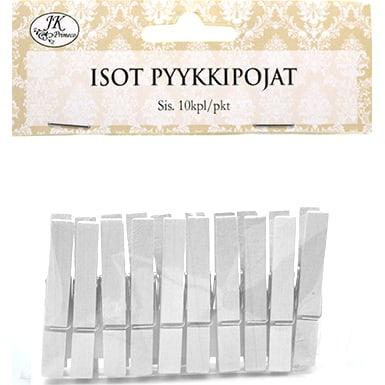 PYYKKIPOJAT ISO VALKOINEN 10KPL| Säästötalo Latvala