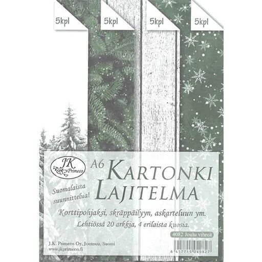 KARTONKILAJITELMA JOULU VIHREÄ A6 20KPL