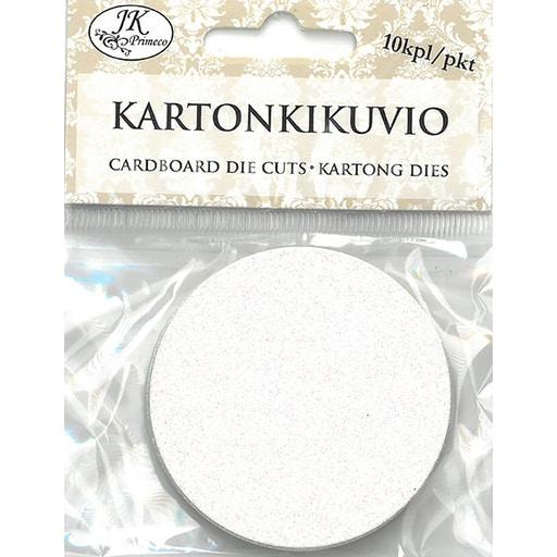 KARTONKIKUVIO GLITTER YMPYRÄ 10KPL