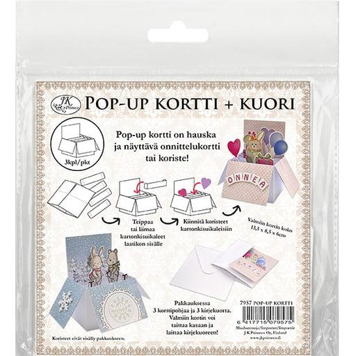 POP UP-KORTTI + KIRJEKUORI 3KPL