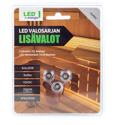 LED ENERGIE LISÄLAMPUT LED-VALOSARJAAN 3KPL