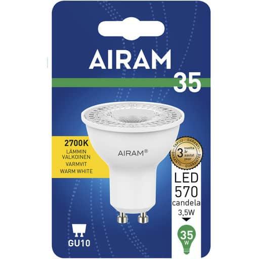 AIRAM LED 35 KOHDE GU10 2700K