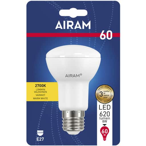 AIRAM LED 60 KOHDE R63 E27 2700K