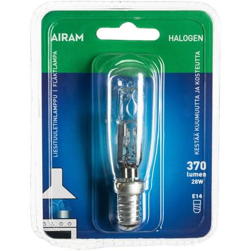AIRAM HALOGEENI LIESITUULETIN LAMPPU 28W E14 2750K