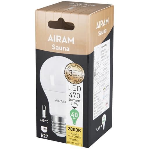 AIRAM LED 40 VAKIO SAUNA 60AST E27 2800K